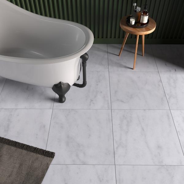 Carrara White Honed Marble