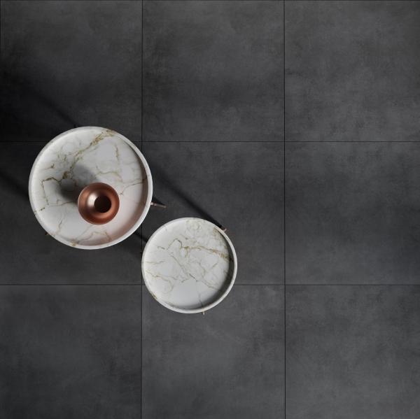 Calgary Black Rectified Matt Porcelain