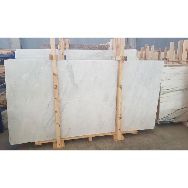 Carrara White Polished Marble Slab