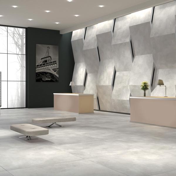 Concrete Light Grey Rectified Matt Porcelain