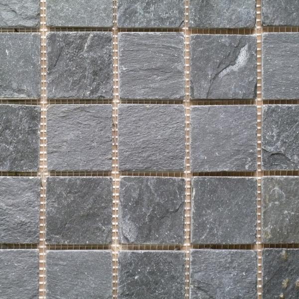 Imperial Black Riven Slate Mosaic