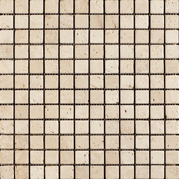 Lydia Classico Tumbled Travertine Mosaic