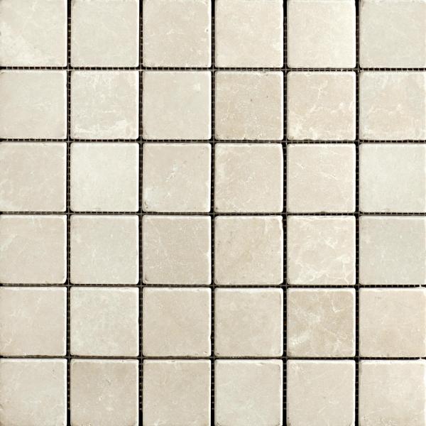 Olympus Creme Tumbled Marble Mosaic