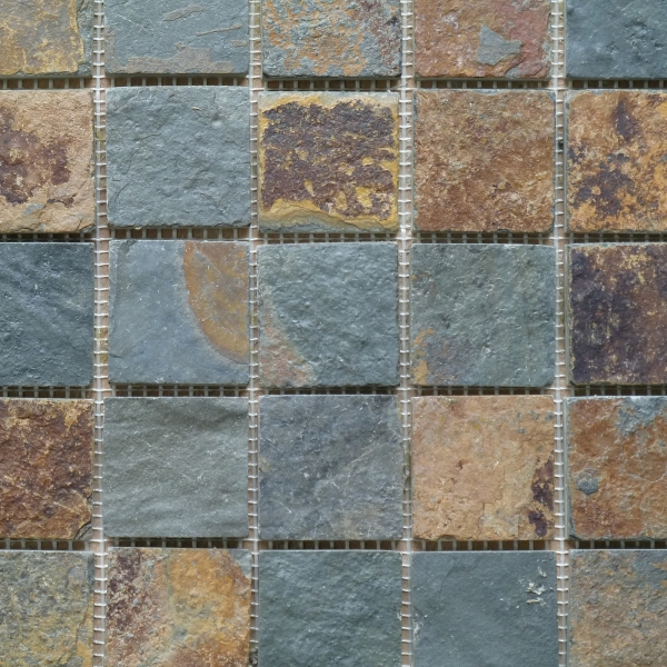 Rust Multicolour Riven Slate Mosaic