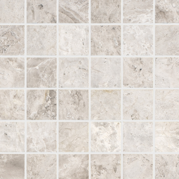 Silver Light Polished Marble Mosaic
