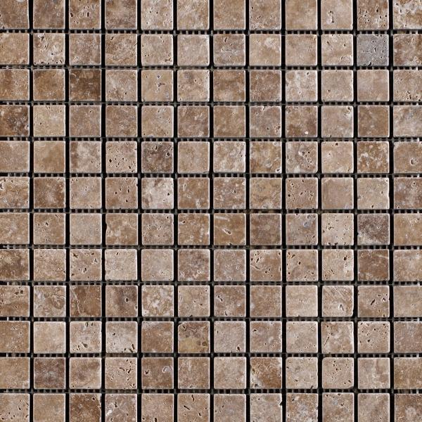 Siva Noce Tumbled Travertine Mosaic