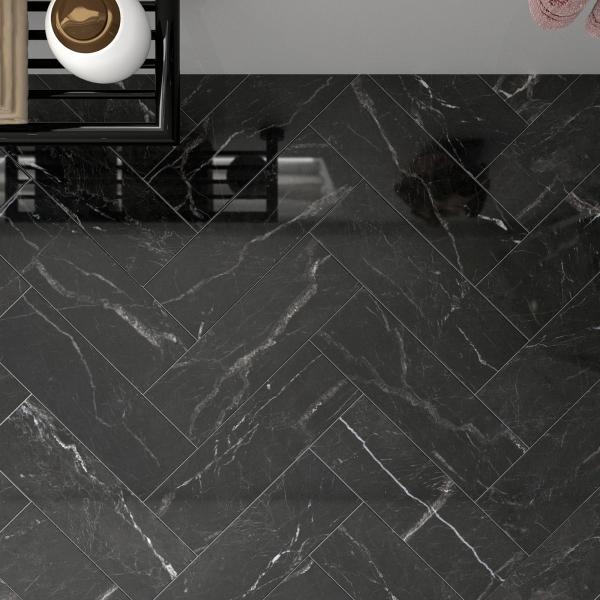 St Laurent Herringbone Polished Marble