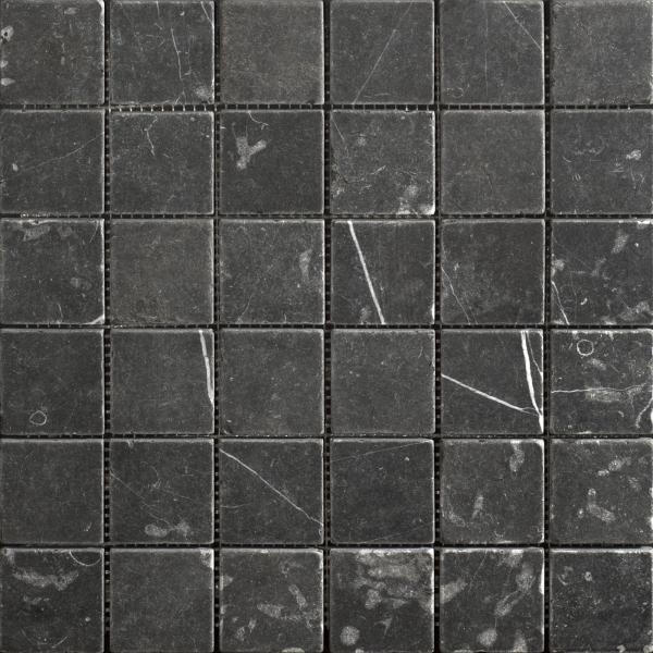 Taurus Nero Tumbled Marble Mosaic